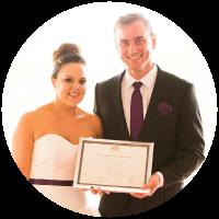 beth and ian wedding day